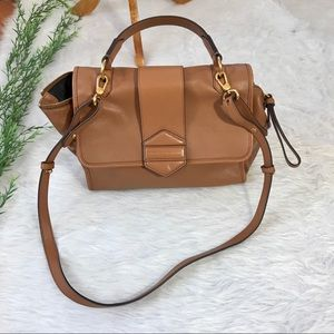 Marc Jacobs Flipping Out Leather Satchel Handbag